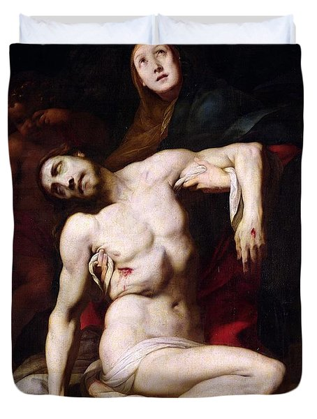 The Pieta Duvet Cover by Daniele Crespi