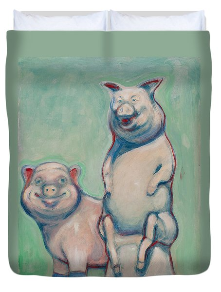 The Pigs Duvet Cover