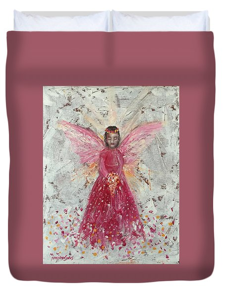 The Pink Angel 2 Duvet Cover by Jun Jamosmos