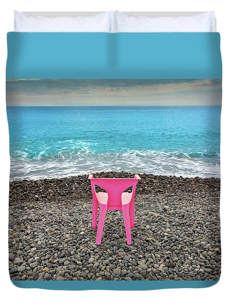 The Pink Chair Duvet Cover