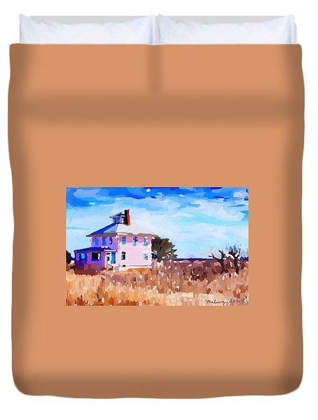 The Pink House, Newburyport, Ma. Duvet Cover