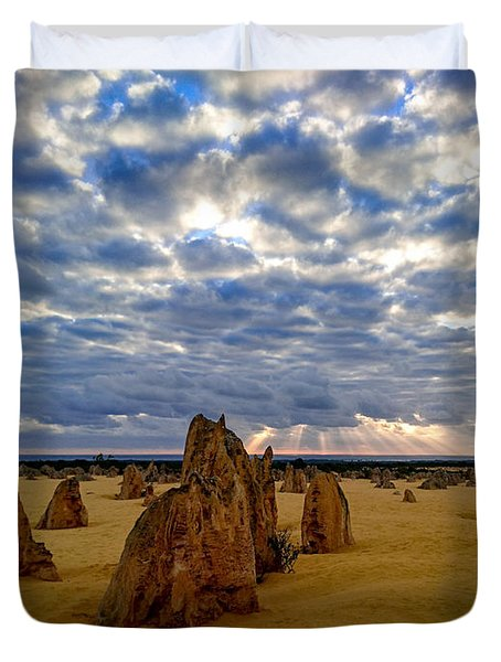 The Pinnacles Sunset Duvet Cover