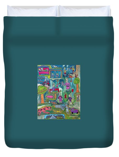 The Playground Duvet Cover