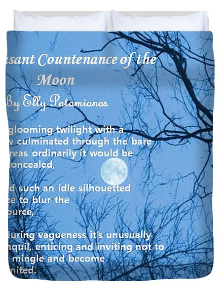 The Pleasant Countenance Of The Moon Duvet Cover