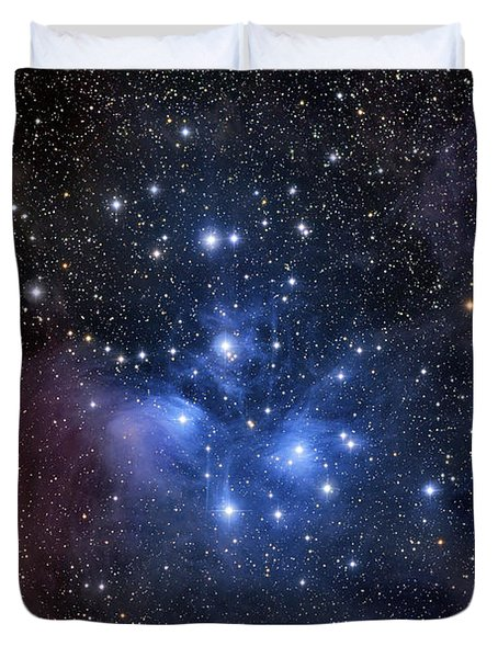 Duvet Cover featuring the photograph The Pleiades, Also Known As The Seven by Roth Ritter