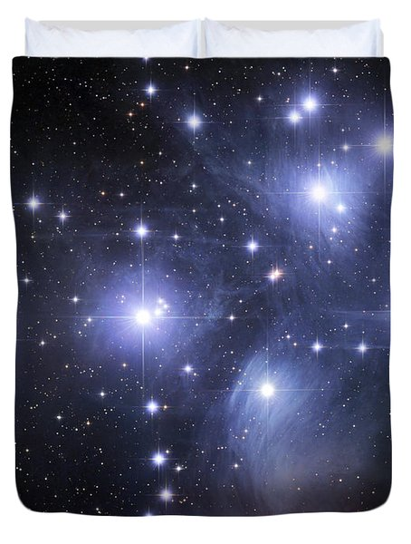 Duvet Cover featuring the photograph The Pleiades by Robert Gendler