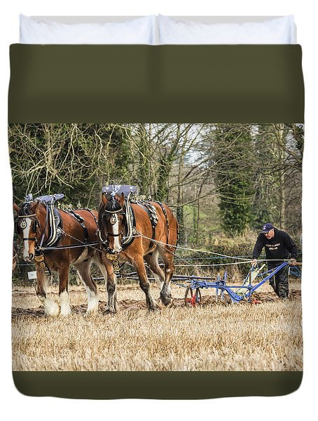 Duvet Cover featuring the photograph The Ploughman by Roy McPeak