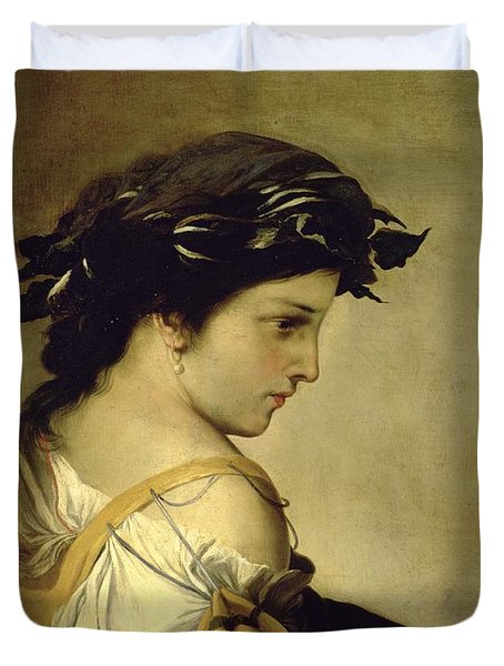 The Poem Duvet Cover by Salvator Rosa