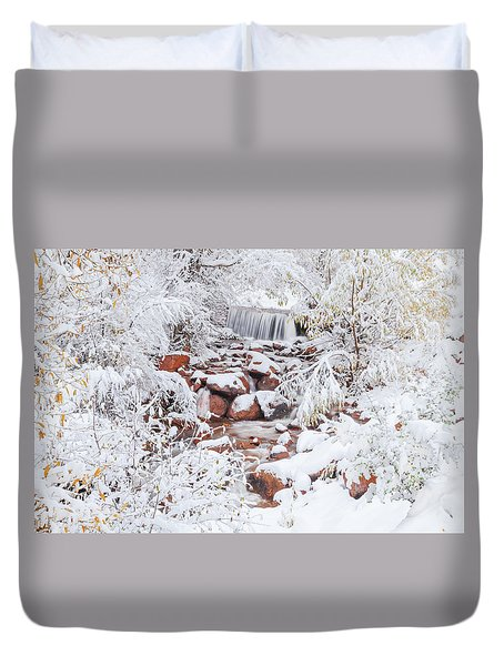 The Poetic Beauty Of Freshly Fallen Snow  Duvet Cover