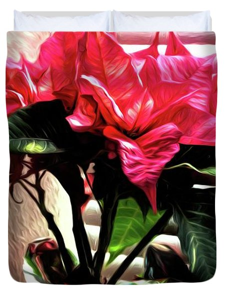 The Poinsettia 1 Duvet Cover