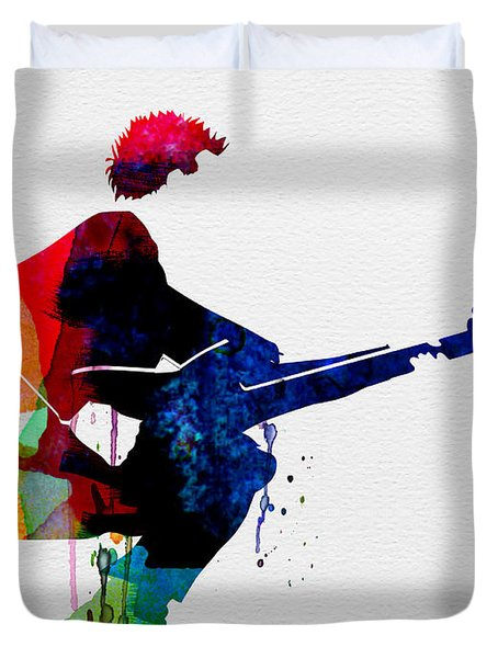 The Police Watercolor Duvet Cover