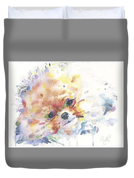 The Pomeranian Duvet Cover