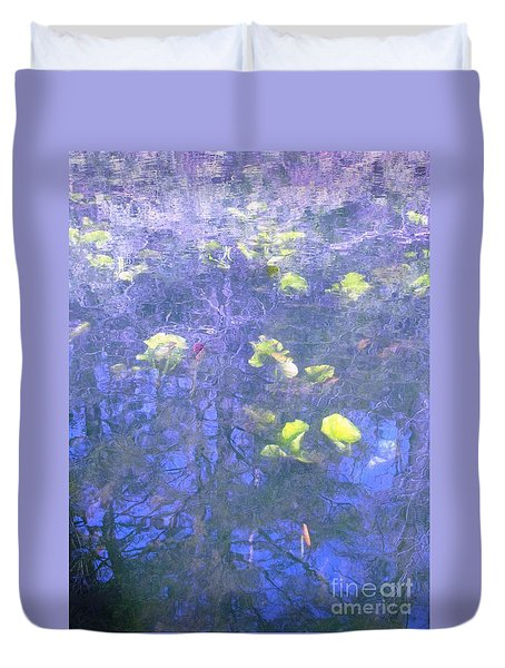 Duvet Cover featuring the photograph The Pond 1 by Melissa Stoudt