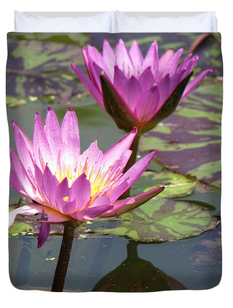 The Pond Duvet Cover by Amanda Barcon