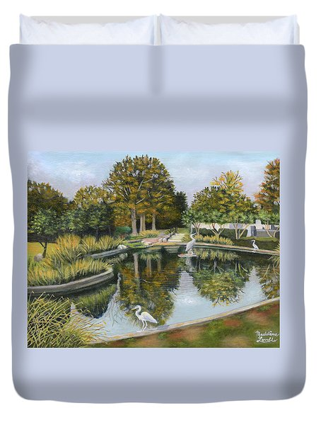 The Pond At Maple Grove Duvet Cover