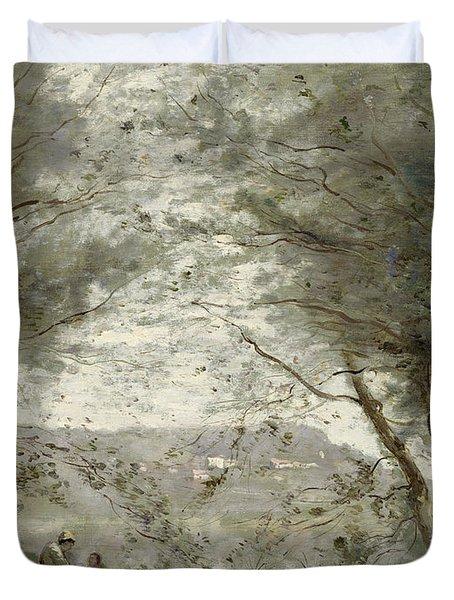 The Pond Duvet Cover by Jean Baptiste Corot