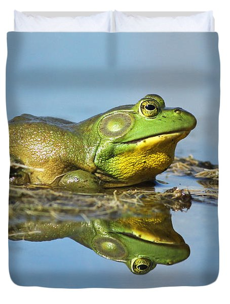 The Pond King Duvet Cover by Mircea Costina Photography