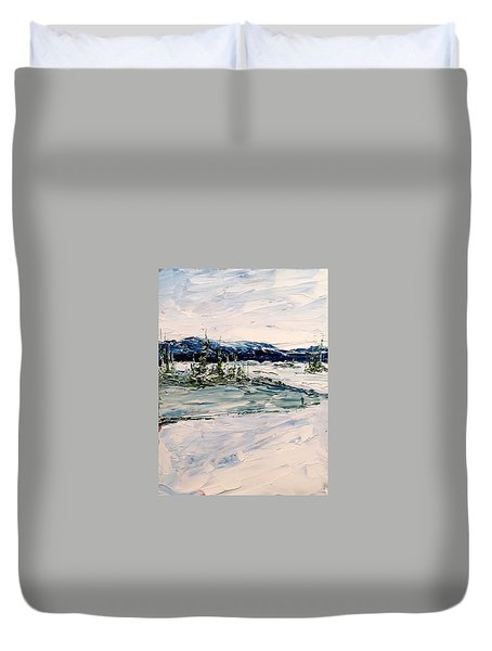 The Pond - Winter Duvet Cover