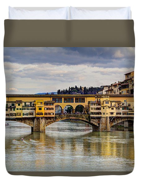 The Ponte Vecchio Duvet Cover