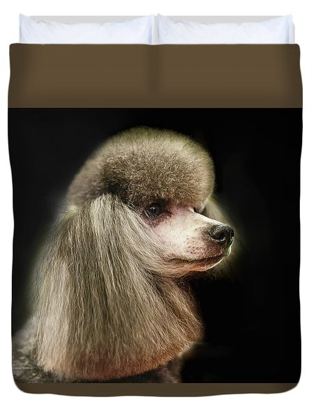 The Poodle Is A Breed Of Dog, One Of The Most Common Breeds In The Present. Duvet Cover