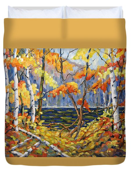 The Pool After Thompson By Prankearts Duvet Cover by Richard T Pranke