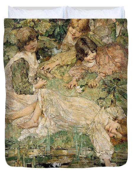 The Pool Duvet Cover by Edward Atkinson Hornel