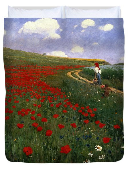 The Poppy Field Duvet Cover