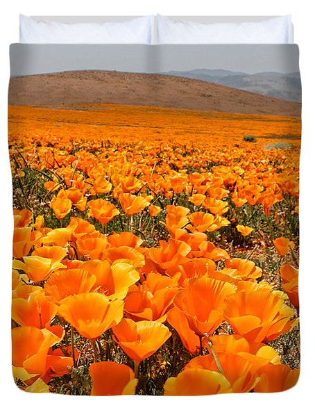 The Poppy Fields - Antelope Valley Duvet Cover