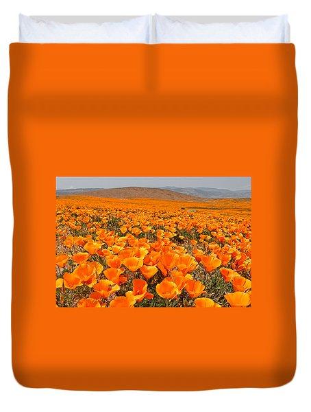 The Poppy Fields - Antelope Valley Duvet Cover