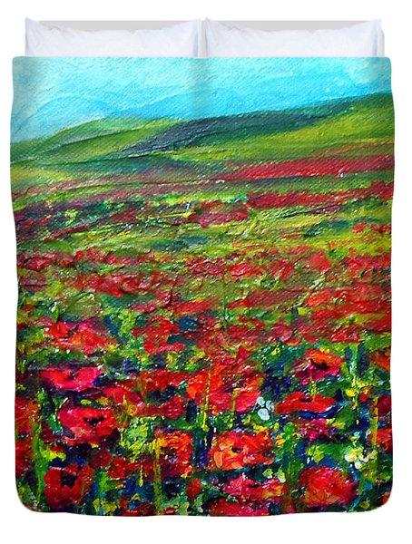 The Poppy Fields Duvet Cover