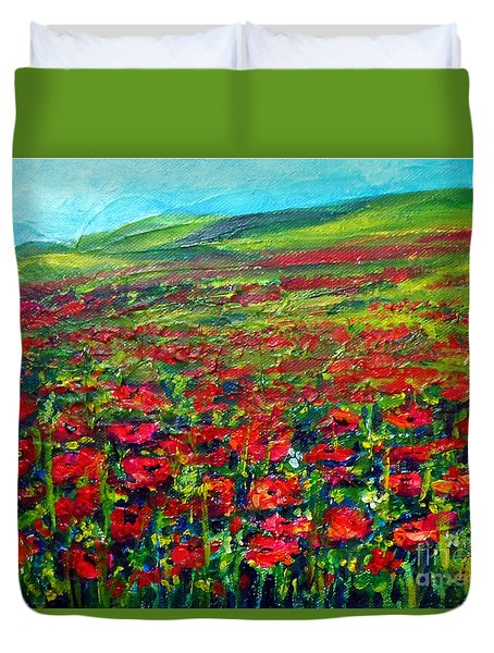 The Poppy Fields Duvet Cover