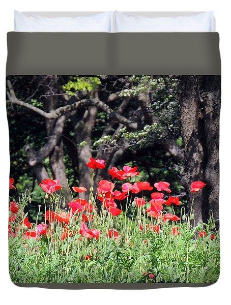 The Poppy Garden Duvet Cover by Teresa Schomig