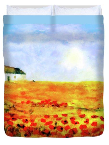 The Poppy Picker Duvet Cover