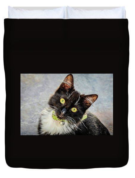 The Portrait Of A Cat Duvet Cover