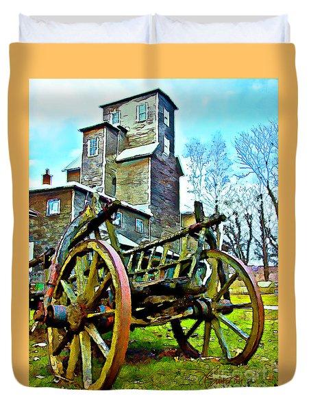 The Pottery - Bennington, Vt Duvet Cover by Tom Cameron