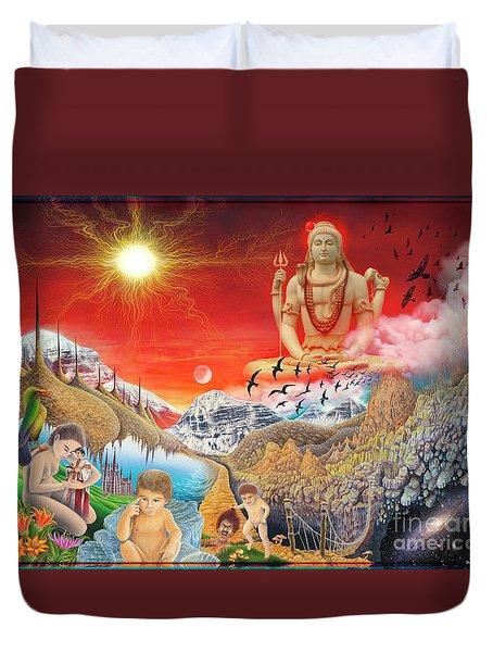 The Power Of Different Gods Duvet Cover