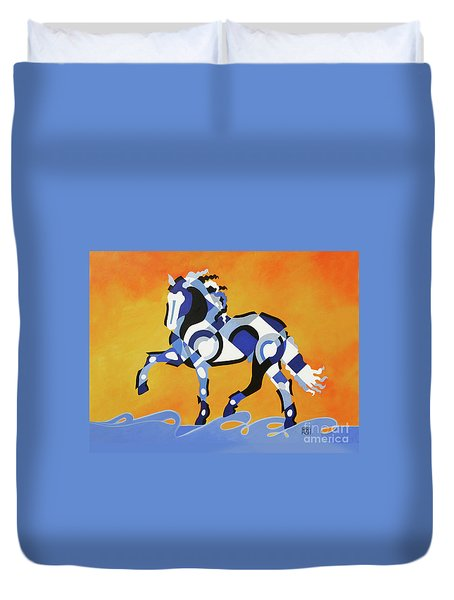 The Power Of Equus Duvet Cover