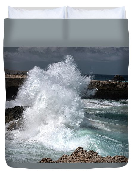 The Power Of The Sea Duvet Cover