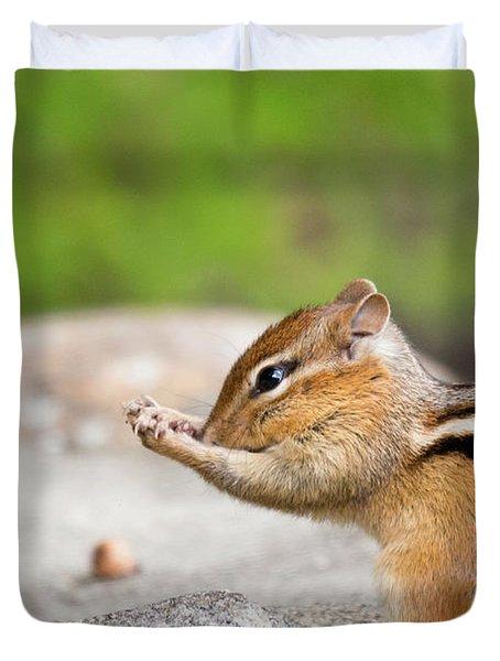 The Praying Chipmunk Duvet Cover