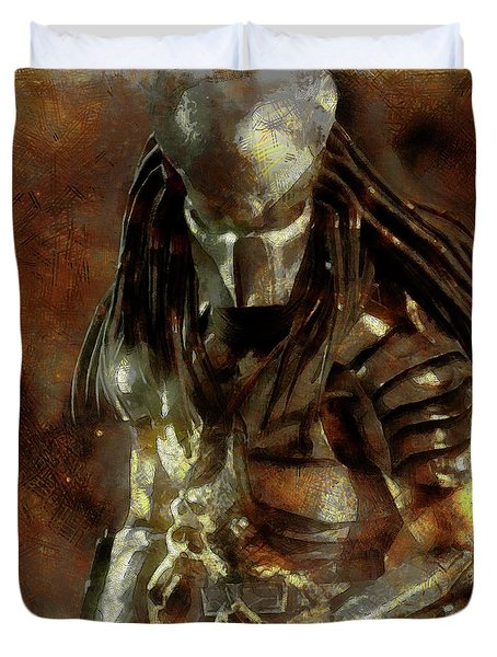 The Predator Scroll Duvet Cover by Mario Carini