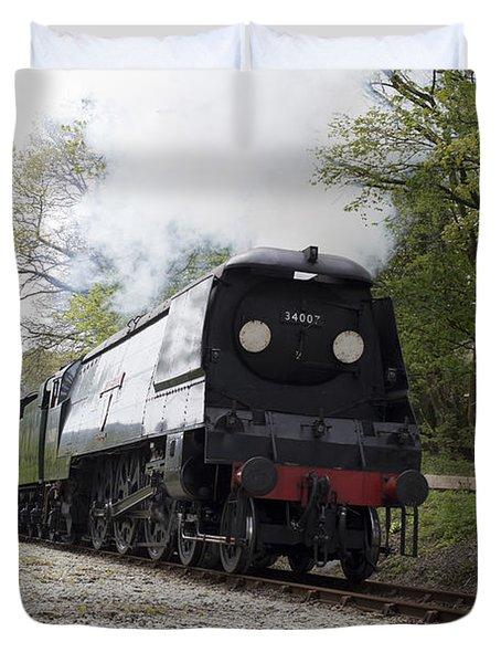 The Preserved Steam Locomotive 34007 Wadebridge Duvet Cover