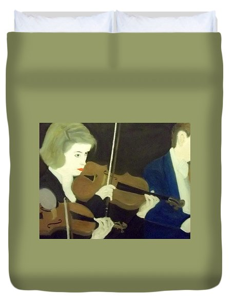 The Prettiest Violinist In The Orchestra Duvet Cover
