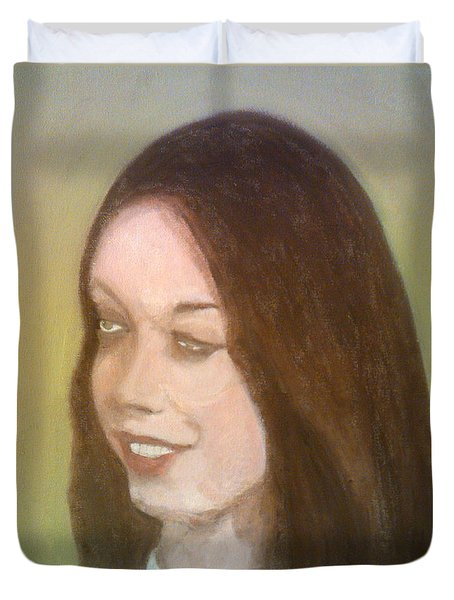 The Pretty Brunette Duvet Cover