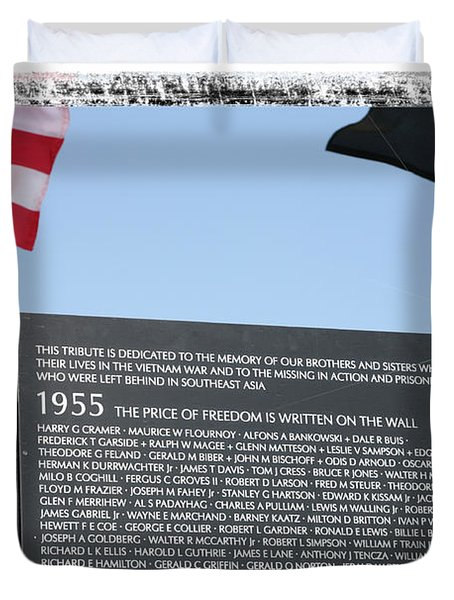 Duvet Cover featuring the digital art The Price Of Freedom by Gary Baird