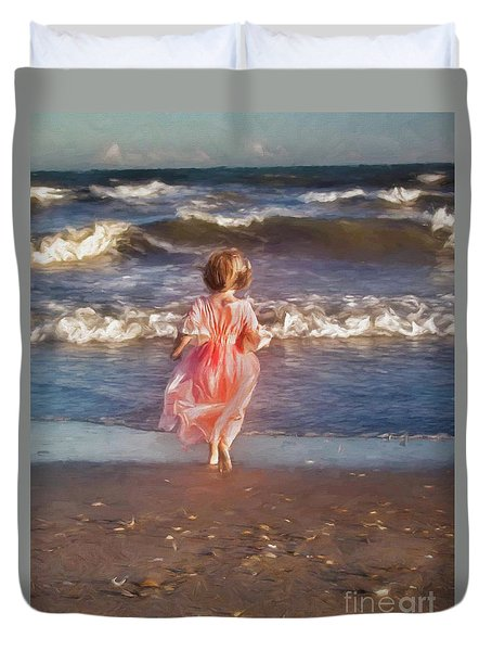 The Princess And The Sea Duvet Cover