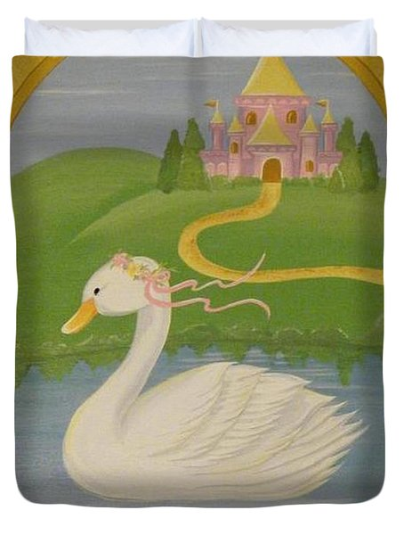 The Princess Swan Duvet Cover