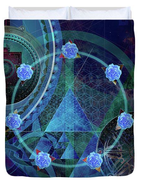 The Prism Of Time Duvet Cover