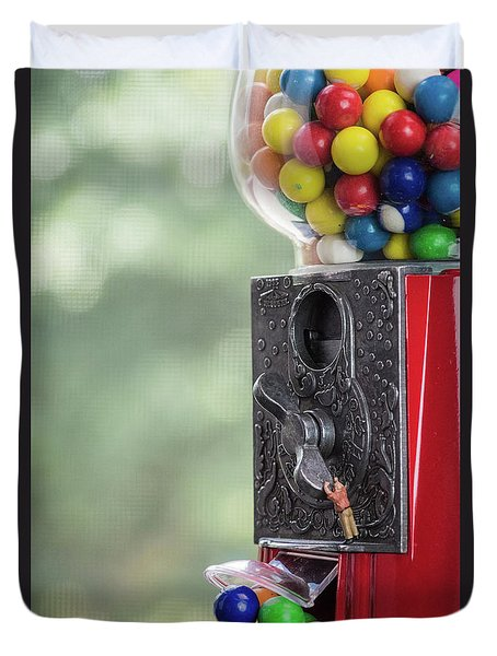 The Problem With Gumball Machines Duvet Cover