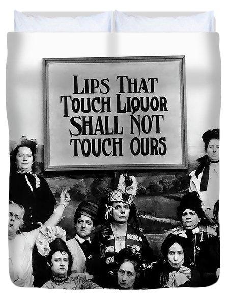 The Prohibition Temperance League 1920 Duvet Cover