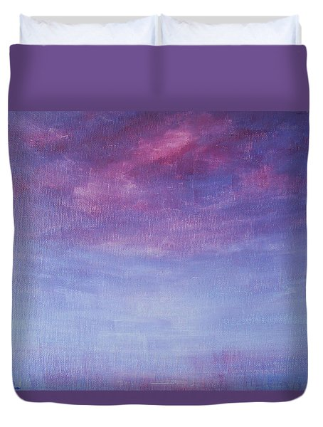 Duvet Cover featuring the painting The Promise by Jane See